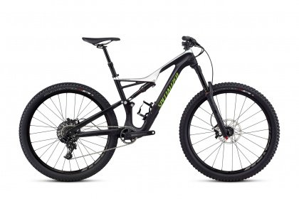 Велосипед Specialized Stumpjumper FSR Comp Carbon 650b (2017) / Чёрно-серебристый