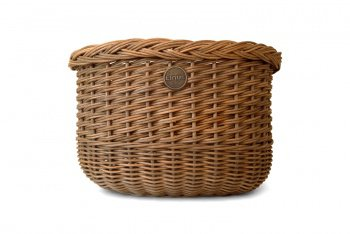 Велокорзина Linus The Oval Basket, плетеная