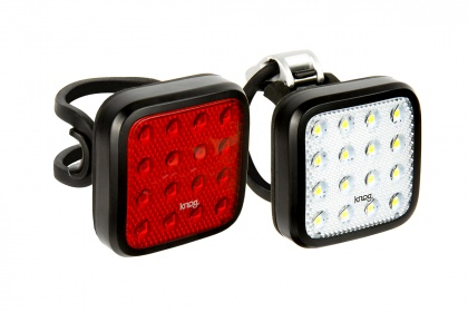 Велофонари Knog Blinder Mob Kid Grid Twinpack, передний и задний