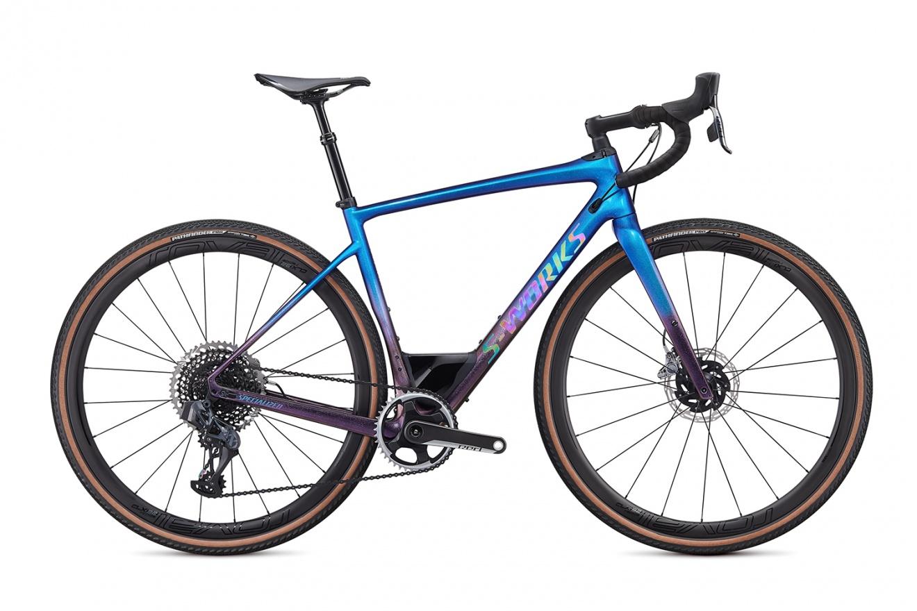 Велосипед гравийный Specialized Diverge S-Works Carbon eTap (2020) / Синий хамелеон