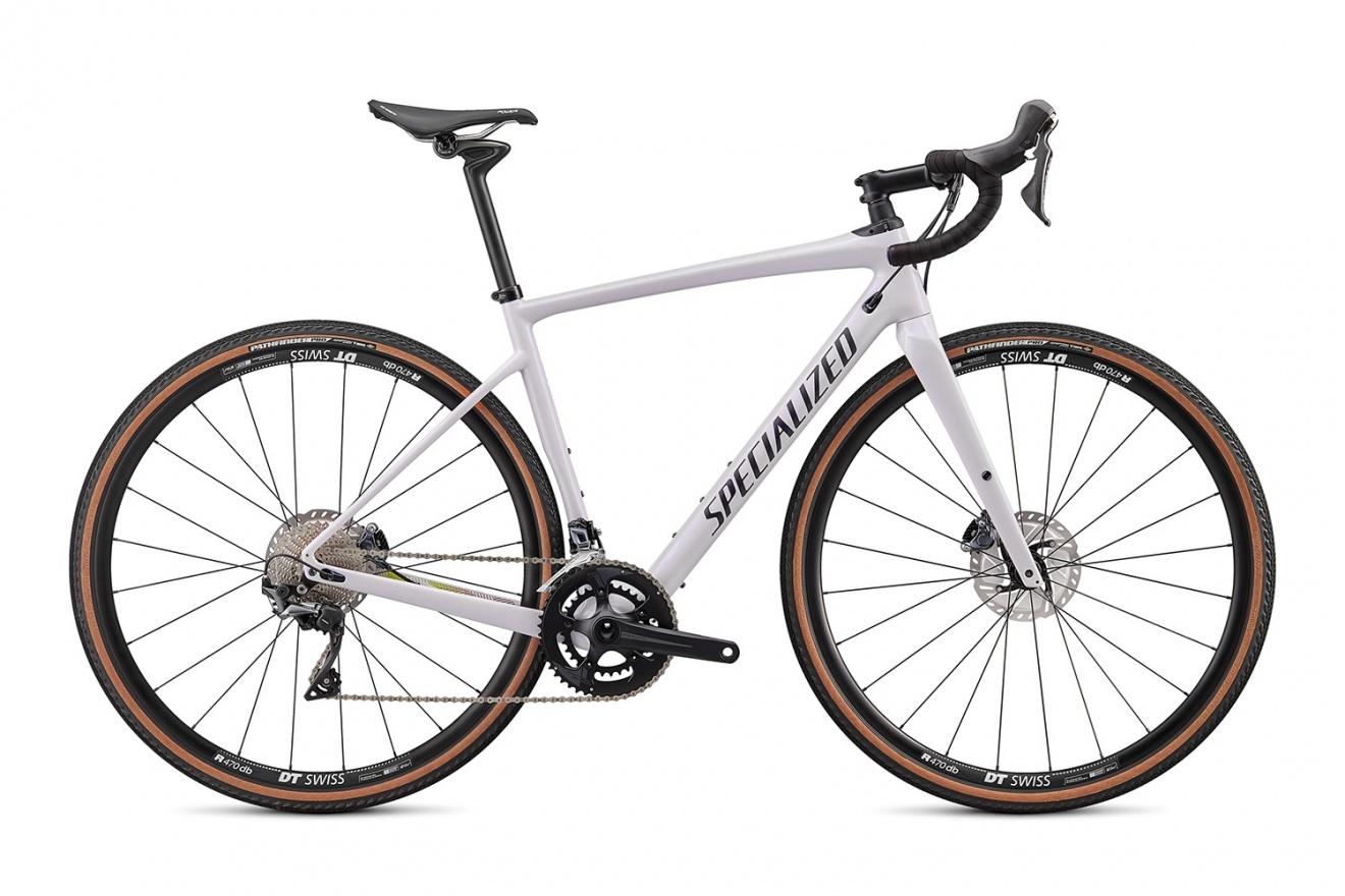 Велосипед гравийный Specialized Diverge Comp Carbon (2020) / Белый хамелеон
