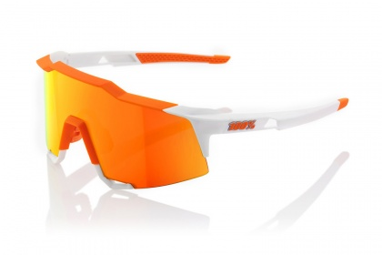 Очки 100% Speedcraft / Soft Tact Day Glo Orange White HiPER Red Multilayer Mirror