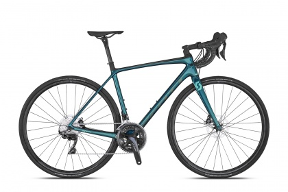 Велосипед шоссейный Scott Contessa Addict 25 Disc (2020) / Синий