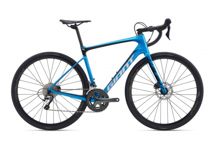 Велосипед шоссейный Giant Defy Advanced 3 Hydraulic (2020) / Синий
