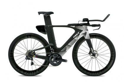 Велосипед для триатлона Felt IA Advanced Disc Ultegra Di2 (2020) / Черный с полосами