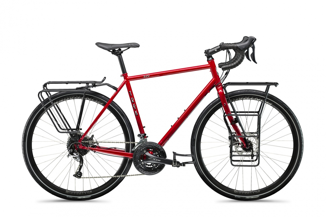 Велосипед туристический Trek 520 (2020) / Красный