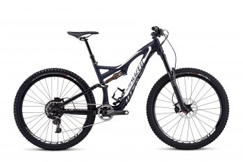 Велосипед Specialized Stumpjumper FSR Expert Carbon Evo 650B (2015) / Сине-белый