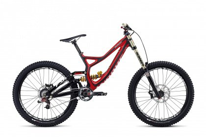Велосипед Specialized S-Works Demo 8 Carbon (2014) / Серо-красный