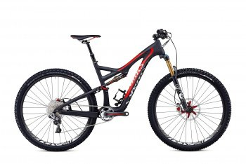 Велосипед Specialized S-Works Stumpjumper FSR Carbon 29 (2014) / Черно-красный