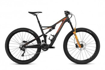 Велосипед Specialized Stumpjumper FSR Comp Carbon 650b (2016) / Черно-оранжевый