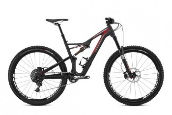 Велосипед Specialized Stumpjumper FSR Expert Carbon 650b (2016) / Черно-красный