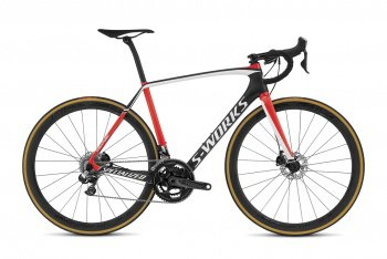 Велосипед Specialized S-Works Tarmac Disc Di2 (2016) / Черно-красный